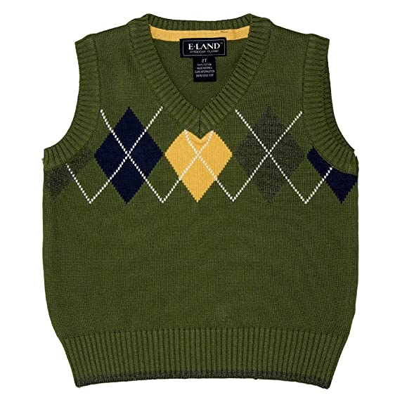 Amazon.com: E Land Argyle Sweater Vest: Clothing