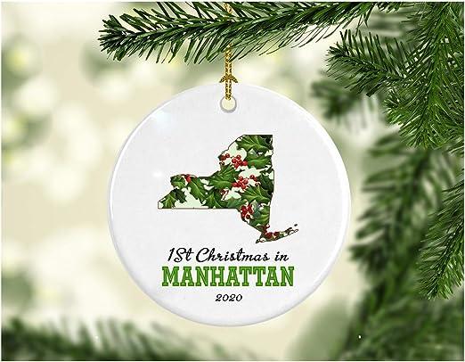 Christmas In Manhattan 2020 Amazon.com: New Home Christmas Ornament 2020 Manhattan New York