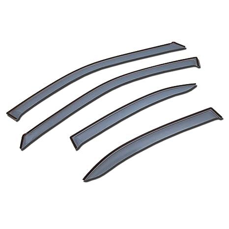 Deflectors & Shields 4 Pcs Set Compatible With 2010-2015 Lexus RX350 RX450h Deflectors & Shields Tuningpros LWD2-648 Outside Mount Window Visor Deflector Rain Guard Light Grey