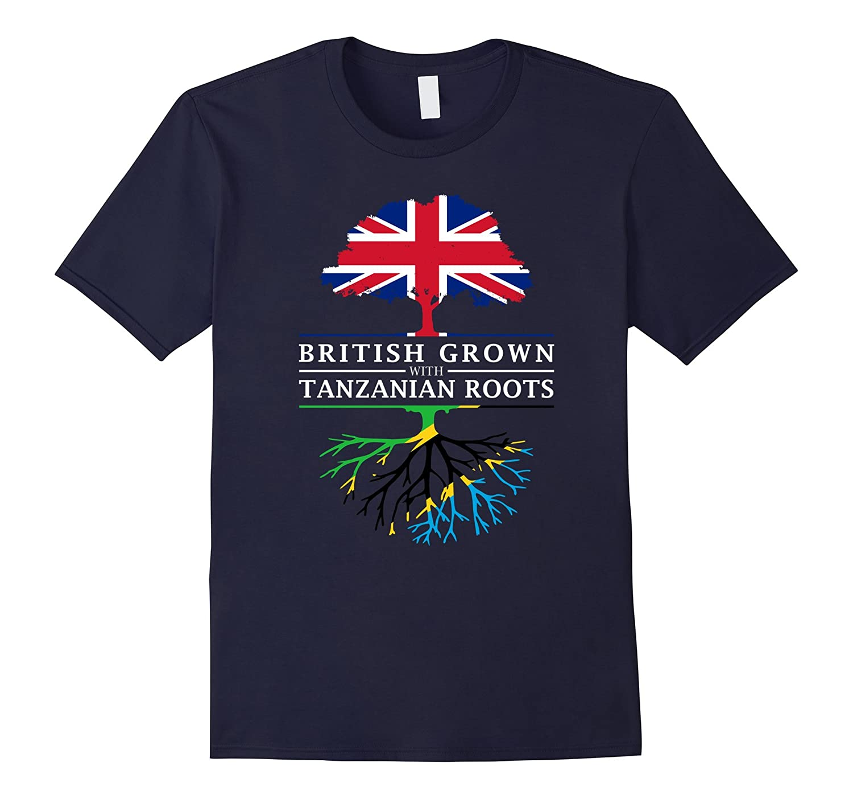 British Grown with Tanzanian Roots T-Shirt - Tanzania Shirt-CD