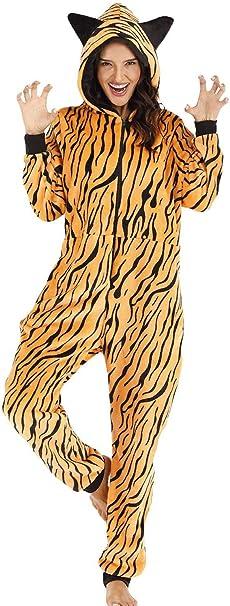 Orshoy - Mono de Mujer para Dormir, Pijama de una Sola Pieza ...