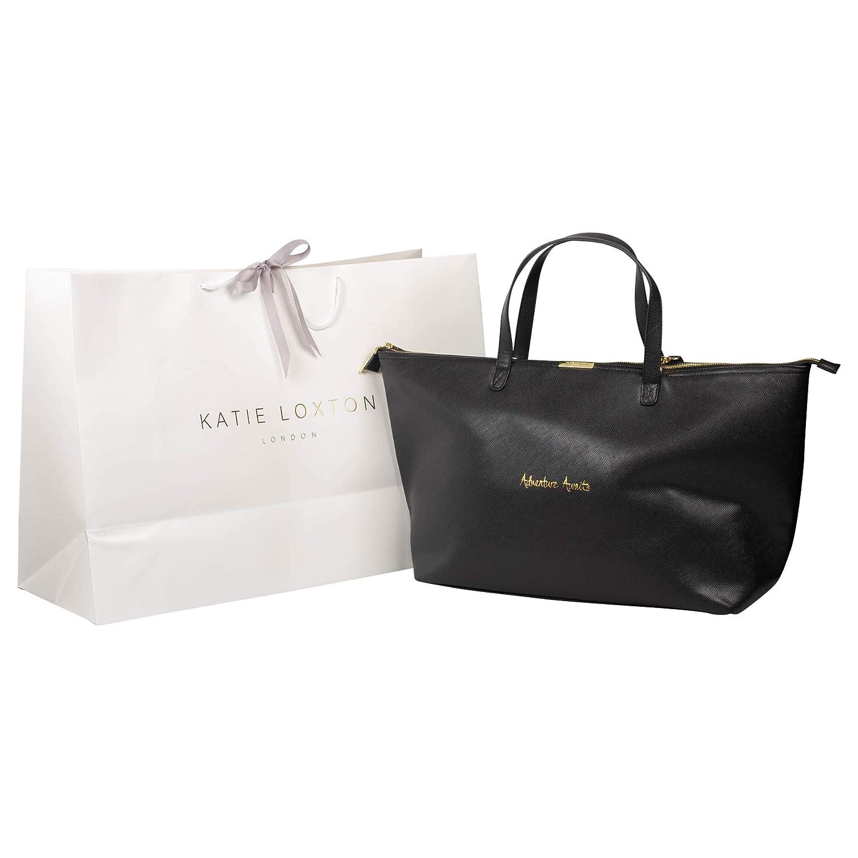 Katie Loxton Black Adventure Awaits Faux Leather Weekend Bag