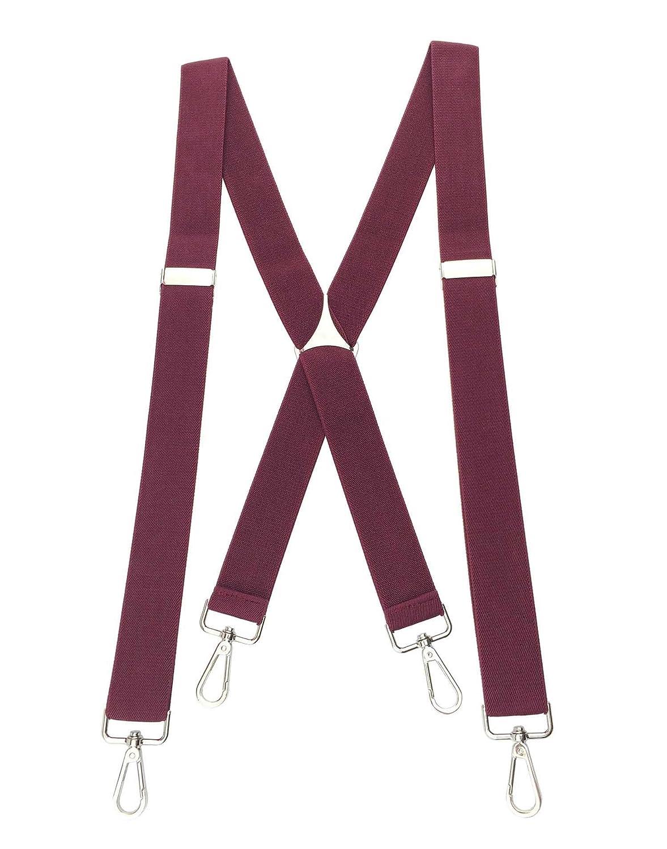 TopTie Mens Skinny Suspenders 1//2inch X-Back Clip Suspenders-Black 1.5CM