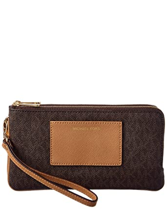 8c09b3af5b35 Michael Michael Kors Bedford Signature Large Double Zip Wristlet at ...