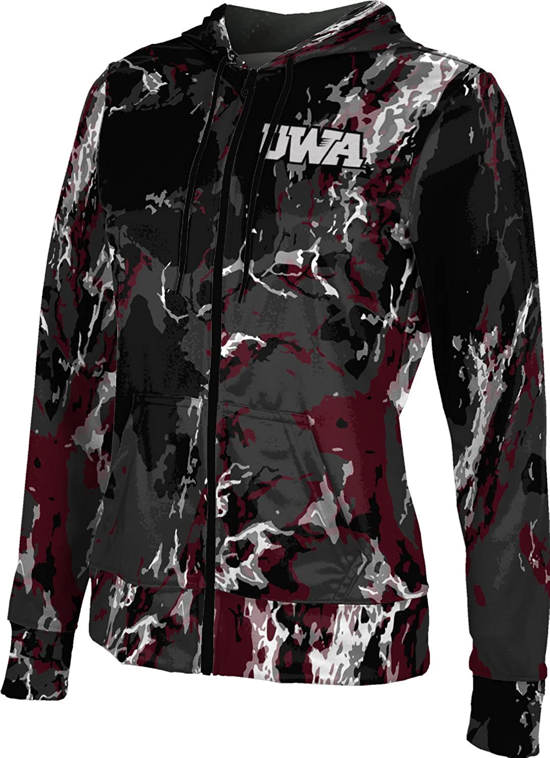 School Spirit Sweatshirt ProSphere University of West Alabama Girls Zipper Hoodie Marble