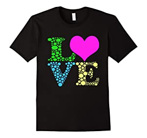 Men's Valentines Day Shirts For Girls LOVE Heart Women Small Black