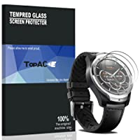 TicWatch Pro Screen Protector, TopACE 9H Hardness Bubble Free Tempered Glass 0.3mm Film for TicWatch Pro (3 Pack)