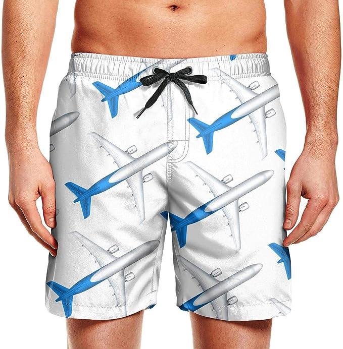 Mens Eagle Canada Pattern Shorts Elastic Waist Pockets Lightweight Beach Shorts Boardshort