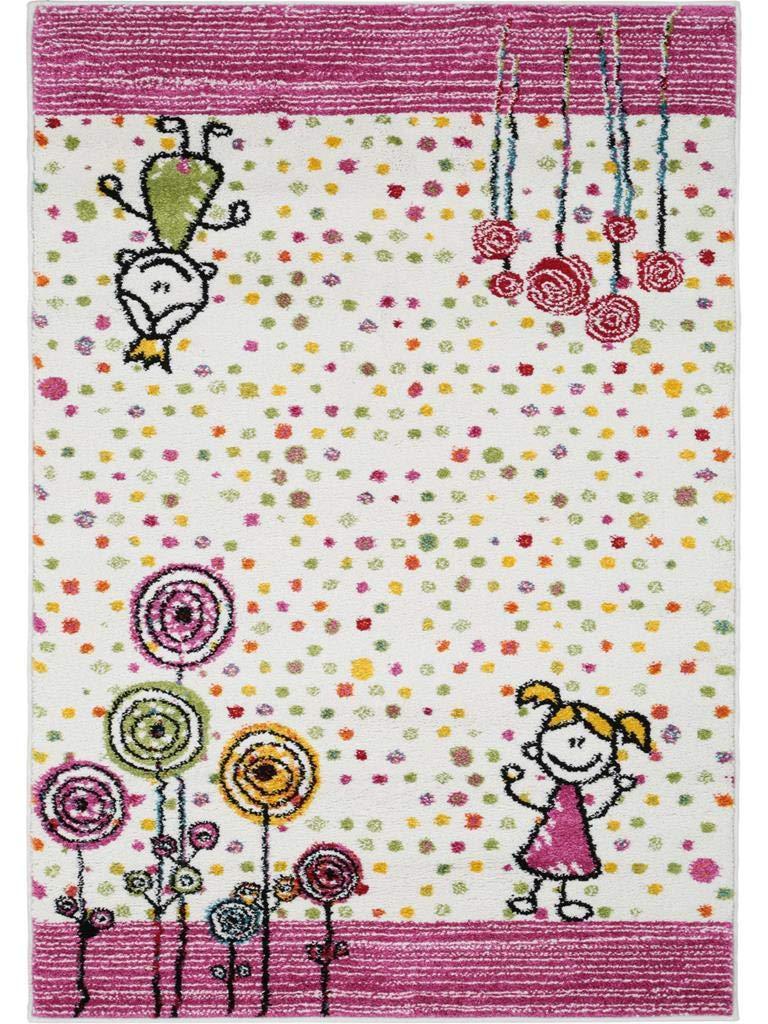 Benuta Kinderteppich Noa Princess Pink 120x170 cm   Teppich für Spiel- und Kinderzimmer