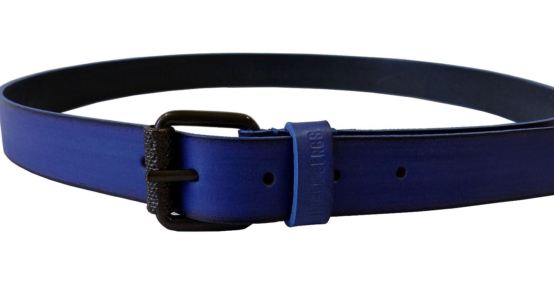 BIKKEMBERGS Gürtel Mann Belt Men Leder Allover Loop DB H3 Ink Medium D1820