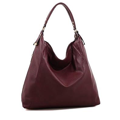 Amazon.com  MKF Collection Expandable Charlotte Hobo Designer Bag by Mia K.  Farrow (Wine)  Shoes 233aa4a8f6a35