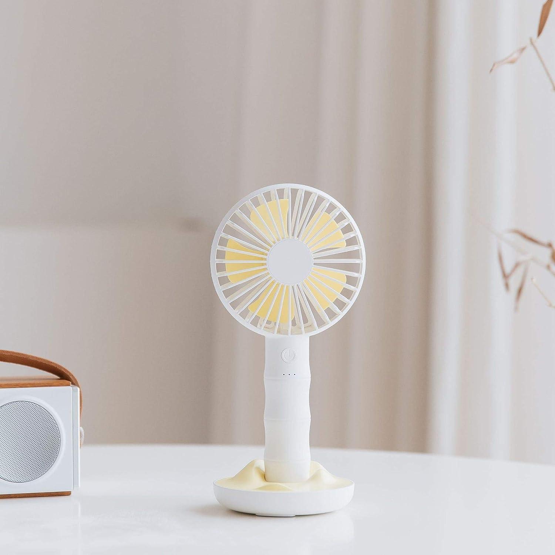 Color : Blue Air Cooler USB Small Fan Large Wind Portable Fan Desktop Small Silent Handheld Electric Fan Summer Cooling Fan
