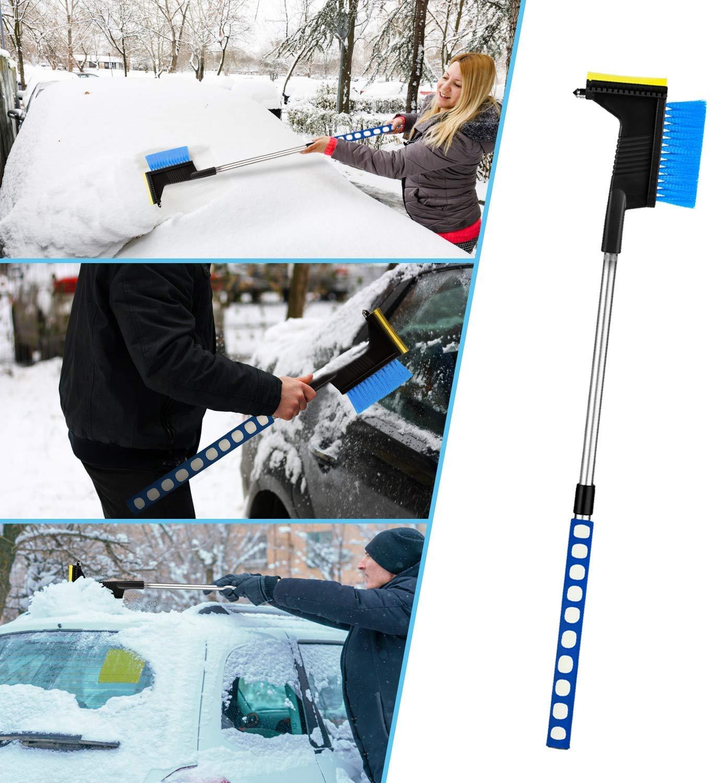 The Almost Indestructible Windscreen Scraper Faminess Ice Scraper Snow Brush 2in1 Car Scrape Removal Snow Mover for Car Auto SUV Truck Windshield Window Glass Scrape Frost Ice Remover