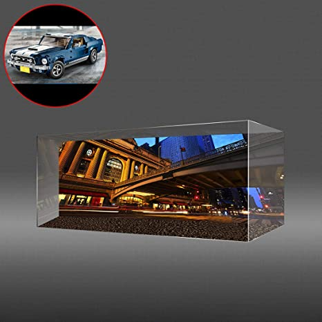 Acrylic Display Case for LEGO Ford Mustang 10265 NEXT DAY DISPATCH White Base