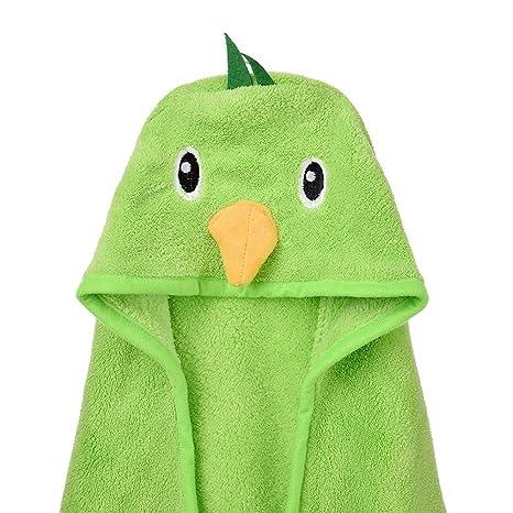 Kuuboo Poncho con capucha para niños, toalla de baño de terciopelo coral con capucha, ...
