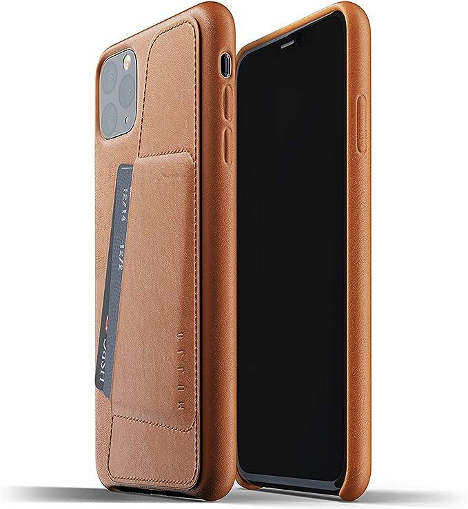 Mujjo Estuche para Apple iPhone 11 Pro MAX | Estuche de Cuero Suave Efecto Envejecido Natural, 1mm Elevado en la Pantalla, Ranura para Tarjeta 2/3 (Cuero): Amazon.es: Electrónica