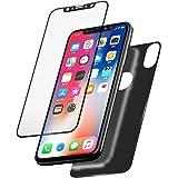 [2 Lots] Verre Trempé iPhone X Avant et Arrière, Auckly Film protection d'écran en verre trempé [HD Clair] [Couverture Complète] [Anti-rayures] [Sans bulles] protecteur écran pour iPhone X