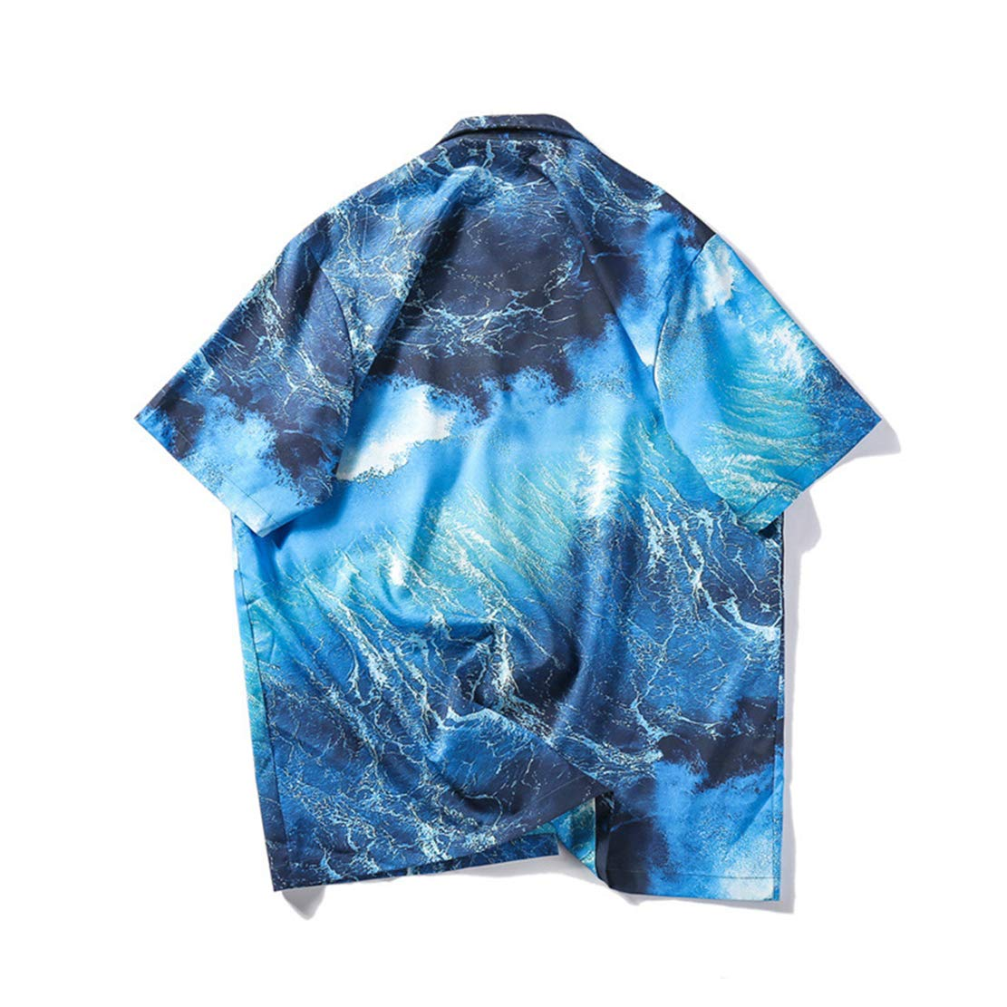 ZLL8 Short Sleeve Beach Party Flower Shirt Holiday Print Casual Shirts Men