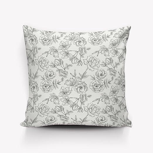 Cuadrado de lino y algodón manta funda de almohada hermosa ...