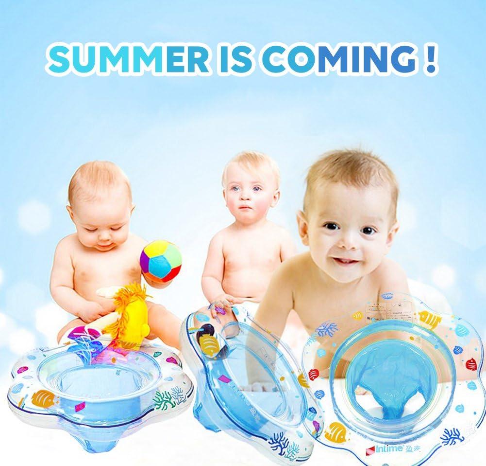 Anneau de natation gonflable pour b/éb/é avec si/ège pour enfants de 6 mois /à 36 mois Bleu