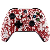 eXtremeRate® The Blood Spatter Patterned Faceplate Cover, Soft Touch Front Housing Shell Case, Comfortable Soft Grip Replacem