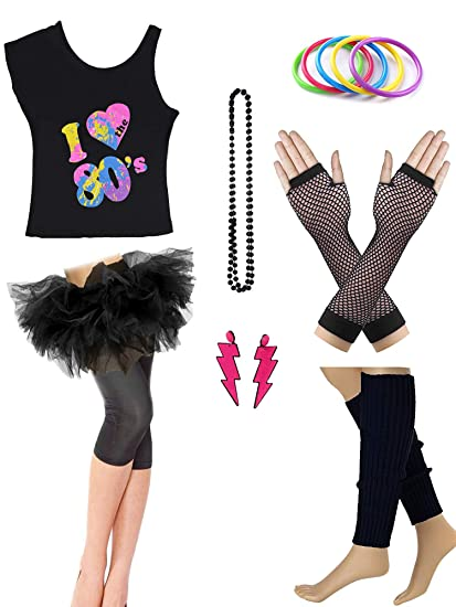 Rainbow Bangle Bracelets 70/'s Disco Fancy Dress Up Halloween Costume Accessory