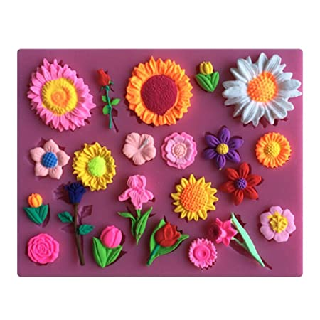 Karen Baking Different Beautiful Flowers Shape Design 3d Silicone