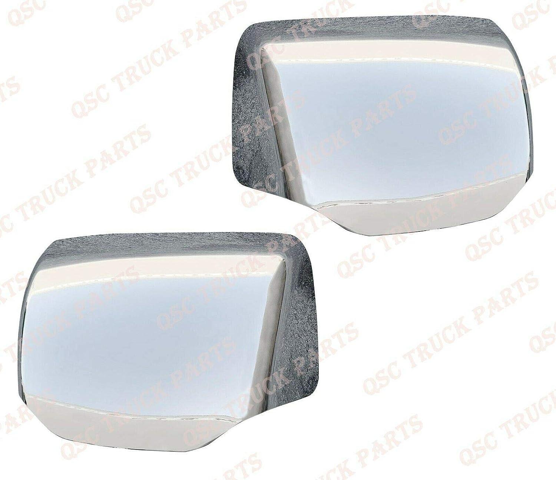 QSC Performance LED Chrome Hood Mirrors Set for Kenworth T680 Peterbilt 579