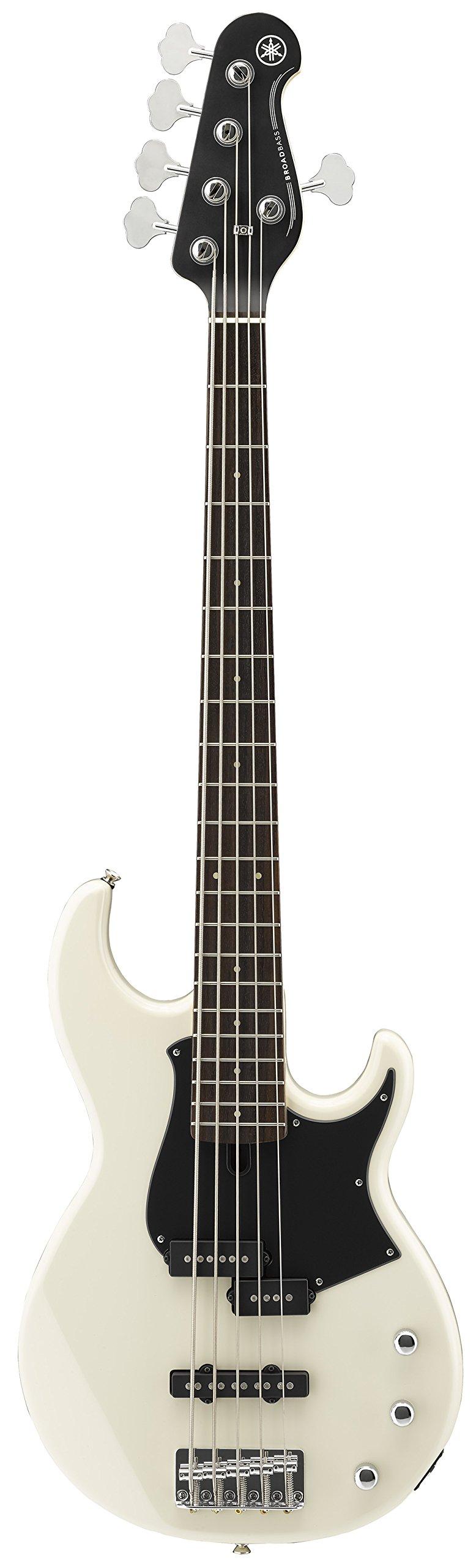 Yamaha BB235 BB-Series 5-String Bass Guitar, Vintage White