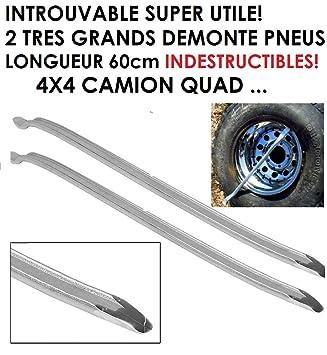 Lote de 2 palancas para desmontar neumáticos muy resistentes – 60 cm – Para 4x4, automóviles, motos, camiones, autocaravanas y barcos (LCM0817): Amazon.es: ...