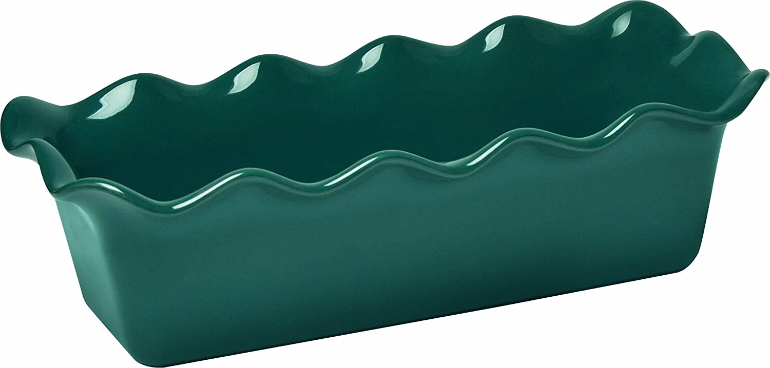 Emile Henry Made In France Ruffled Loaf Pan, 12.5 by 6 by 4, Blue Flame 976387