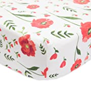 Little Unicorn Percale Crib Sheet - Summer Poppy