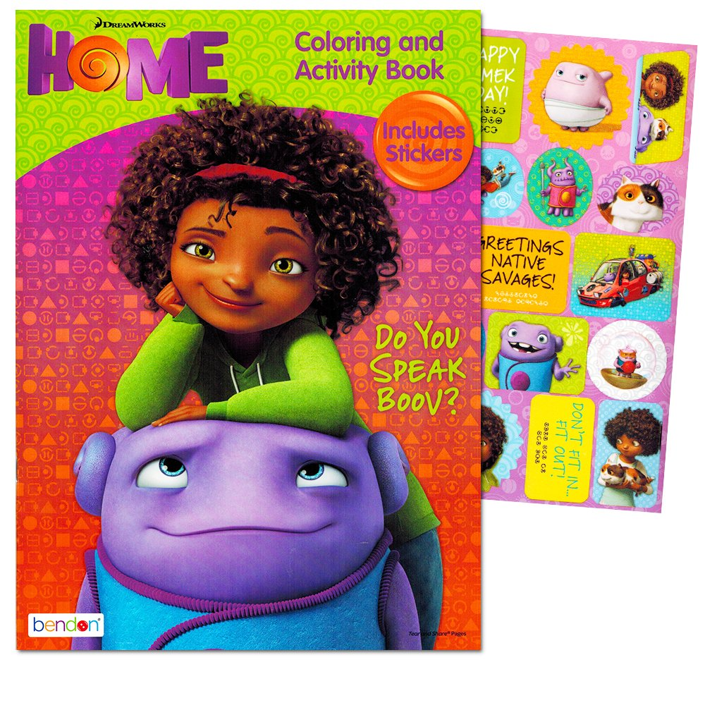 DreamWorks Home Do You Speak Boov? Coloring and Activity Book - Includes Stickers Bendon