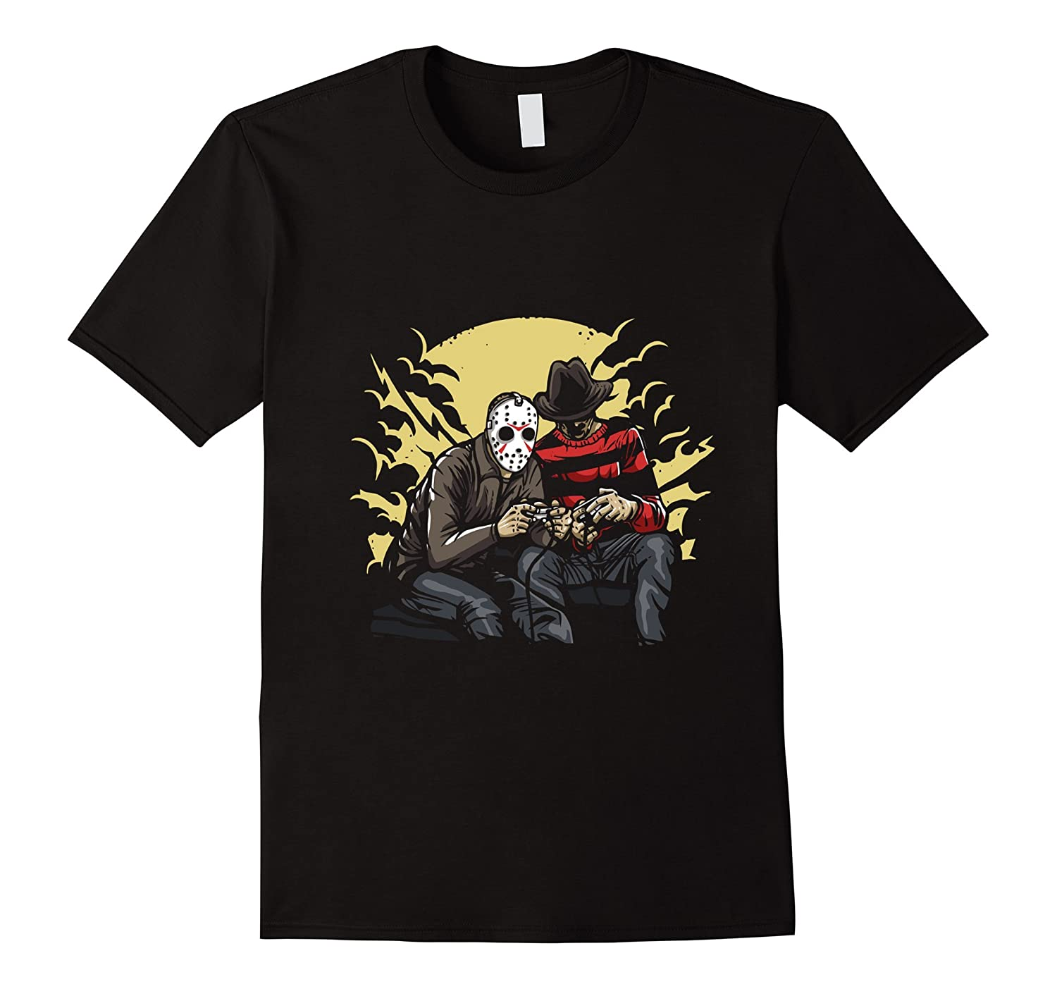 Funny Halloween T-Shirt - Two killers playing video games-FL