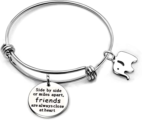 CAROMAY Bangle Bracelet Friendship Graduation Gifts Birthday Party Good Friends Like Stars Stainless Steel