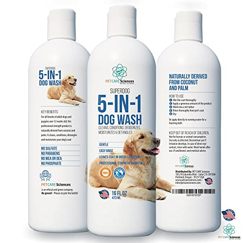 PET CARE Sciences Dog Shampoo Range - Naturally Derived - Dog Shampoo and Puppy Shampoo with Conditioner - Made in The USA