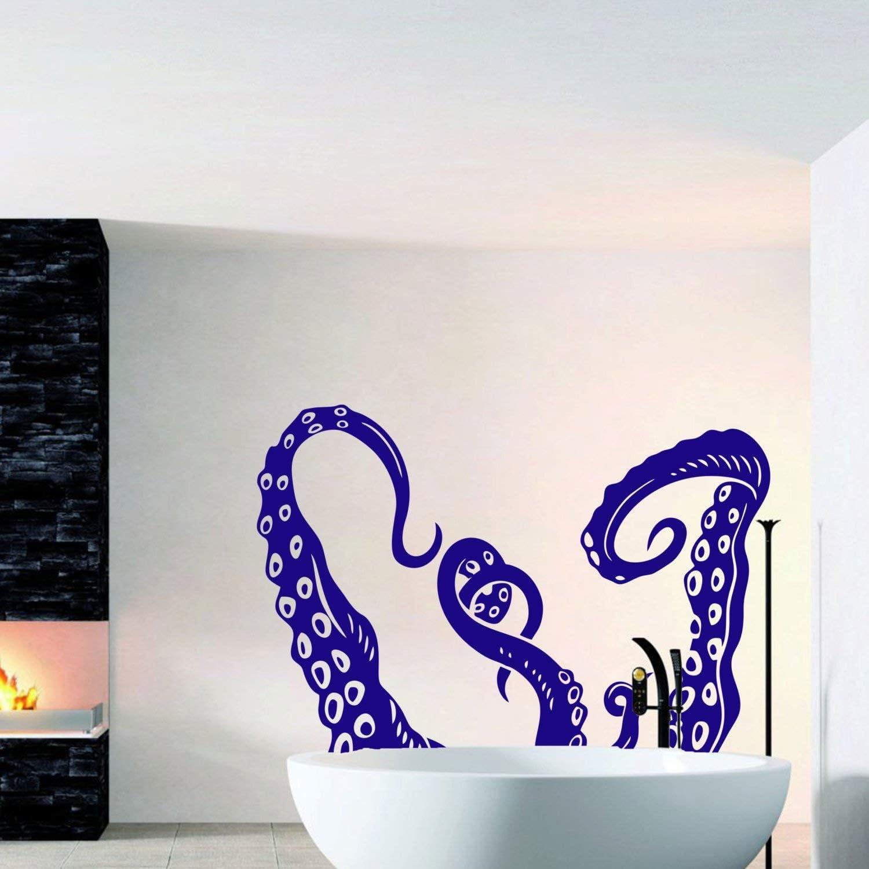 Octopus Tentacle Kraken Wall Decal Sea Animals Decals Vinyl Stickers Housewares Interior Design Living Room Bedroom Wall Art Home Decor C074