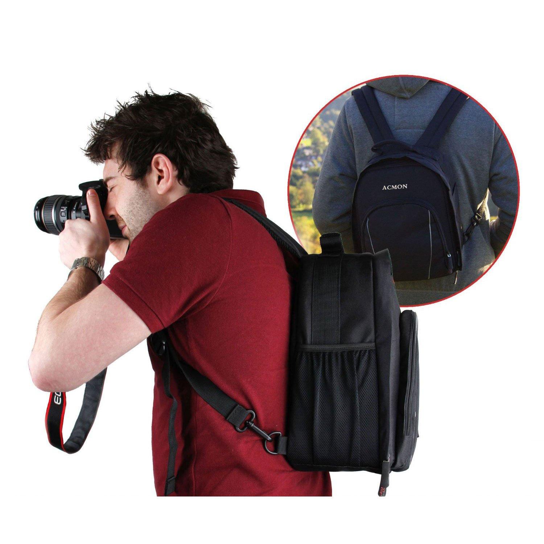 Bolsa Tipo Mochila Impermeable a prueba de golpes para Cámara DSLR Canon EOS Sony Nikon