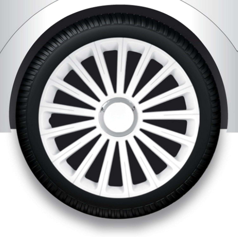 Zentimex Radzierblenden Radkappen Radabdeckung 13 Zoll 36 Weiß Abs Auto