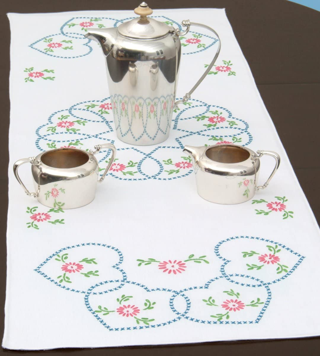 """Jack Dempsey Stamped Table Runner//Scarf 15/""""X42/""""-XX Star"""