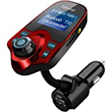 Bluetooth FM Transmitter, LDesign Universal Wireless Radio Transmitter Car Kit with AUX Input | 1.44 Inch Display | TF Card Reading | 4Mode HD Music Play | Hands-Free Call &USB Charge for Audio Player