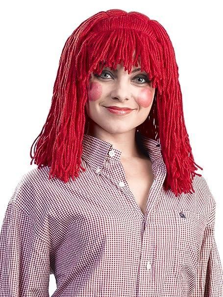 Alicia Enigma Wigs Raggedy de la mujer Cleo, rojo, un tamaño