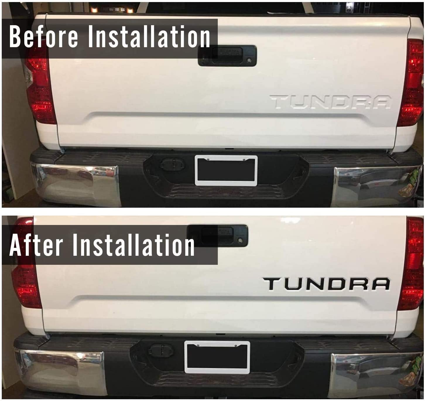 Matte Black LUOWAN Compatible for Tundra 2014-2020 Special 3D Zinc Alloy Tailgate Insert Letters