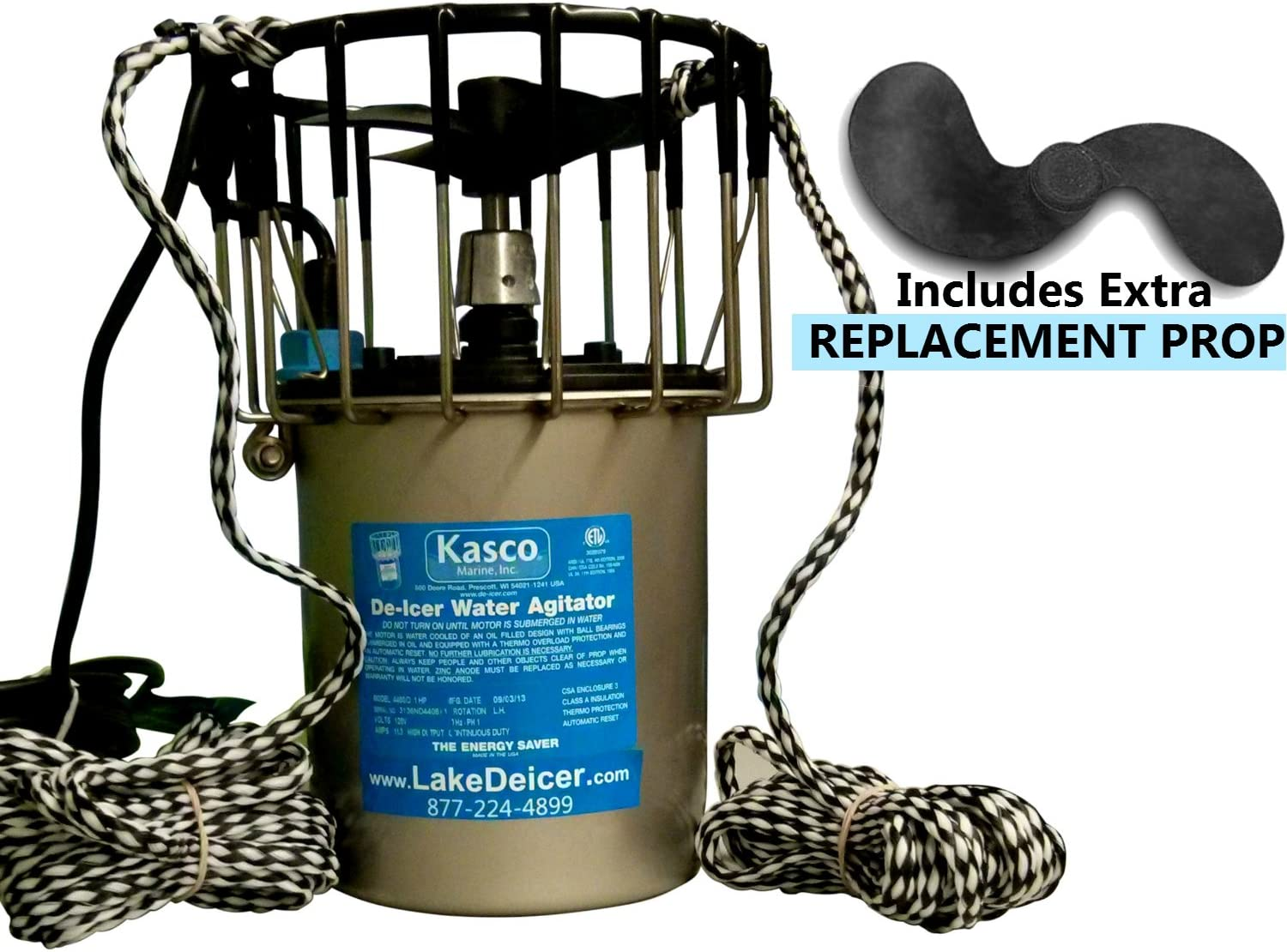 Kasco Marine 3400D025 De-Icer 3//4hp 120 volts Clears Up To 75/' Diameter 25/' Cord