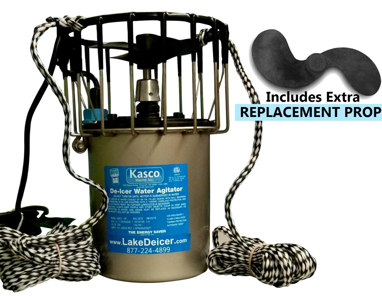 Kasco De-Icer - 3/4 HP 120V - 25ft Power Cord + EXTRA PROP - Deicer for Water, Lake, Pond, Marina, Dock, Pier
