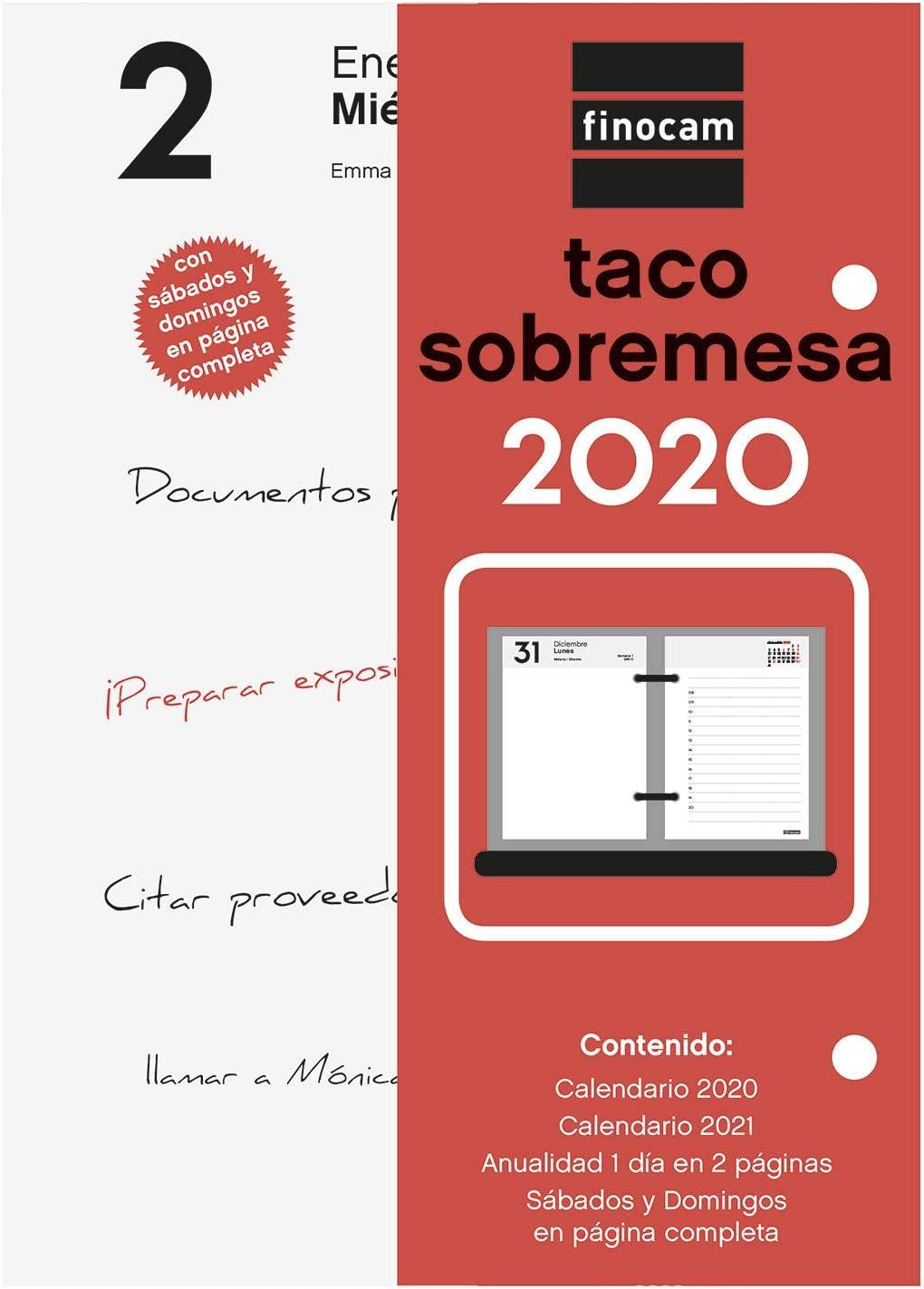 Finocam - Taco 2020 1 día en 2 páginas español