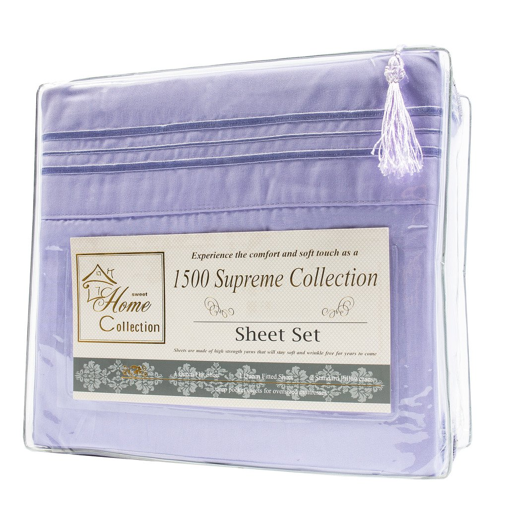 Lavender 1500 Supreme Collection Bed Sheets Set
