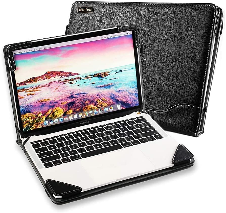 Laptop Case Cover for Acer Aspire 5 A515-56 15.6 inch Notebook Sleeve PU Leather Stand Hard Protective Skin