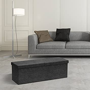 Superb Amazon Com Locking Storage Ottoman With Smart Lift Top Bralicious Painted Fabric Chair Ideas Braliciousco