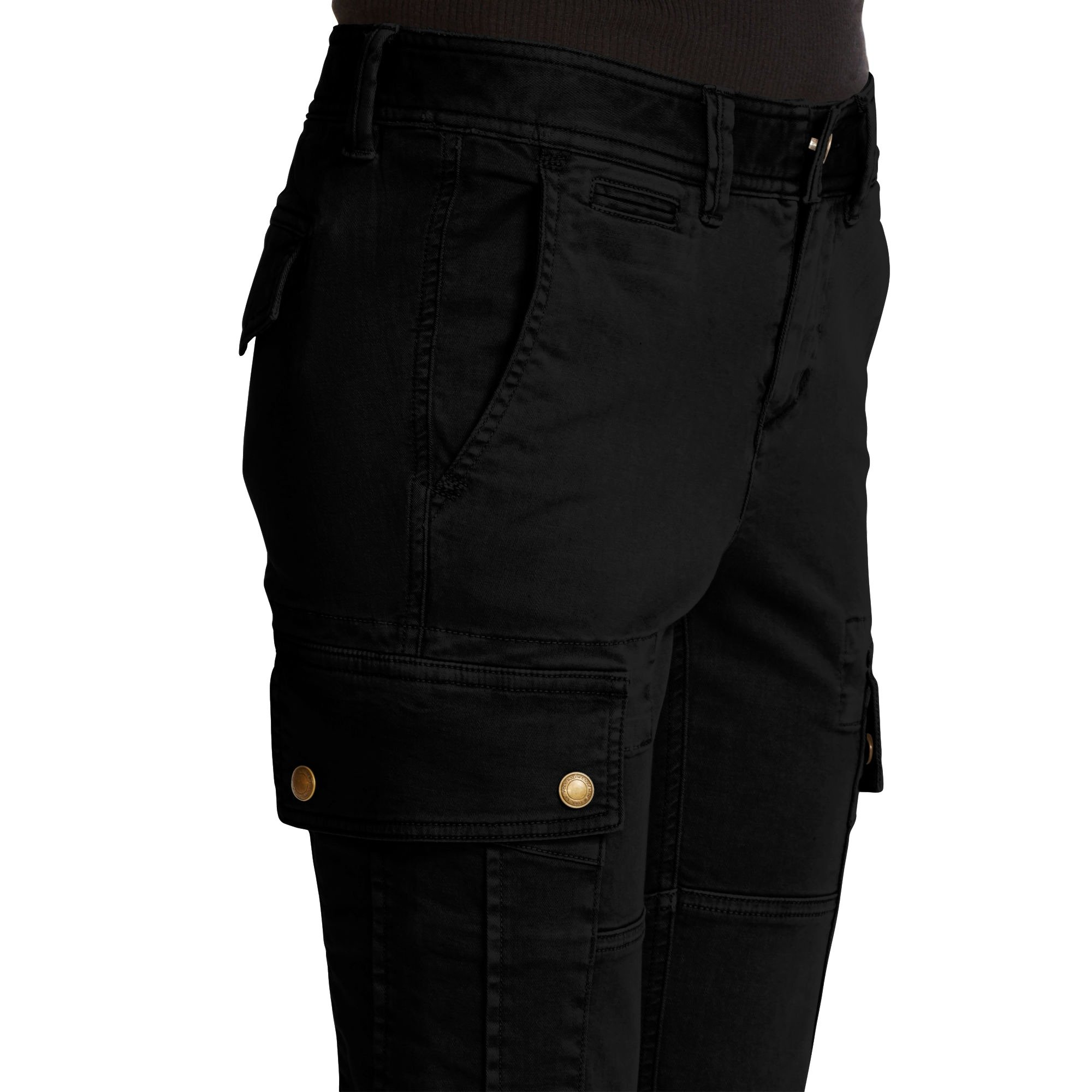 Polo Ralph Lauren Womens Twill Flat Front Cargo Pants Black 10 by Polo Ralph Lauren (Image #1)
